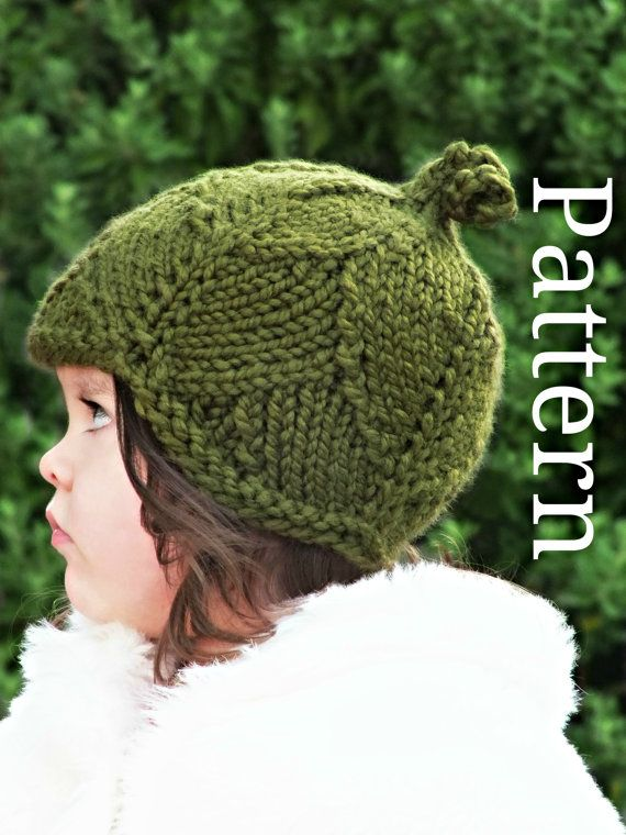 Knitting Pattern Leaf Hat Toddlerchildadult Sizes Knit Hats