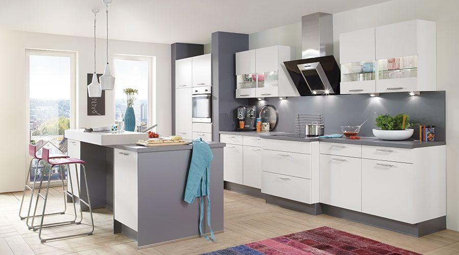 Fronten in Kunststoff weiß softmatt wwwfoerde-kuechende #kuechen - Küchen Weiß Hochglanz