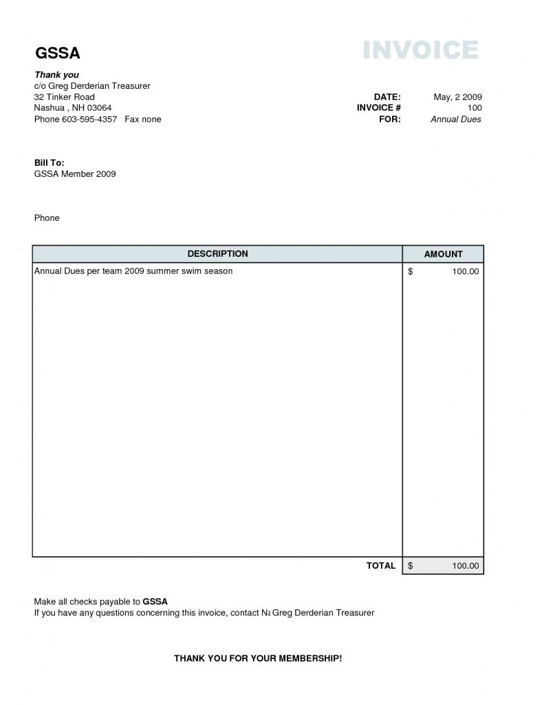 simple invoice template download