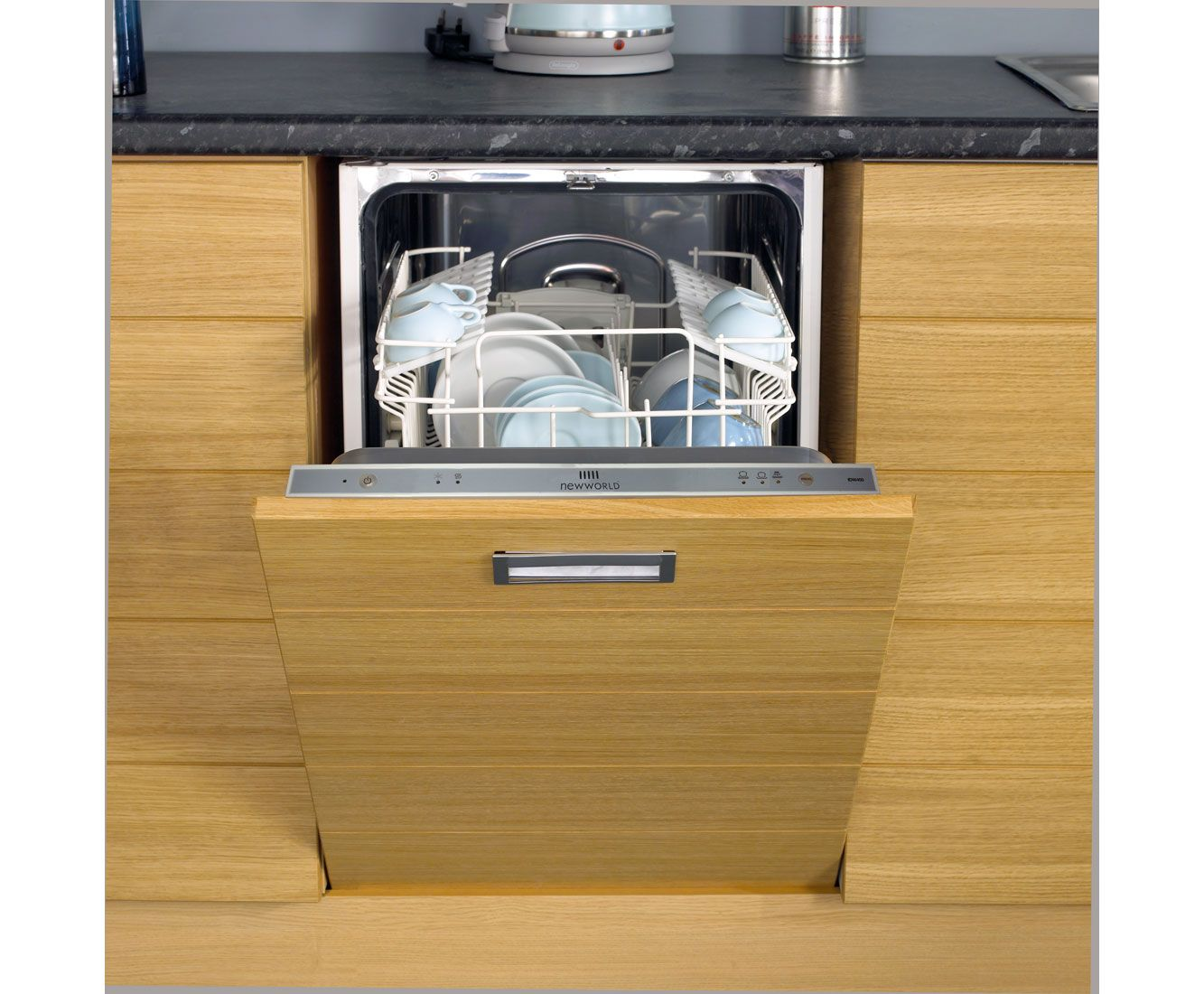 Uncategorized Slimline Kitchen Appliances newworld integrated slimline dishwasher nwdw45mk2 ao com kitchens