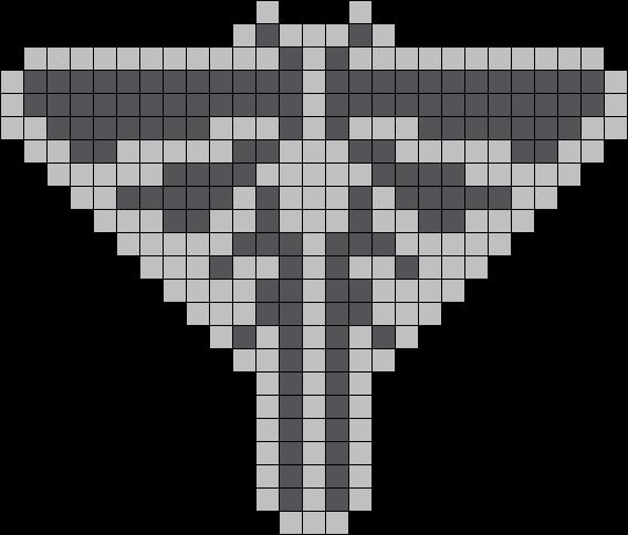 The Last Of Us Fireflies Logo Kandi Pattern Perler Beads Beading Patterns Kandi Patterns