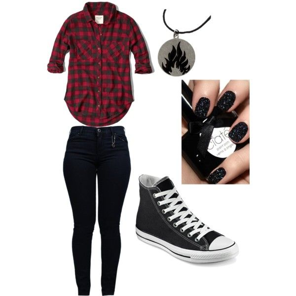 Plaid flannel shirt black high top converse black skinny for Flannel shirt and jeans