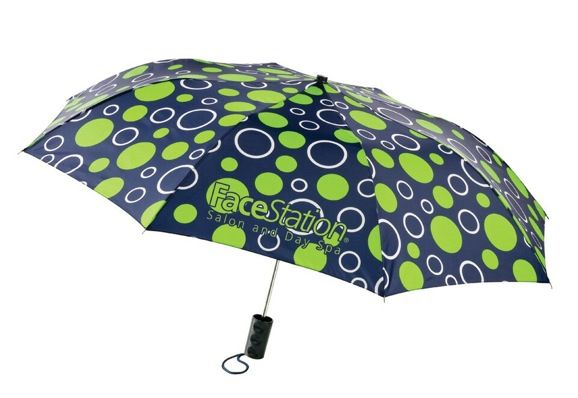 Parings: Polka Dots Umbrella with your shopping center logo.