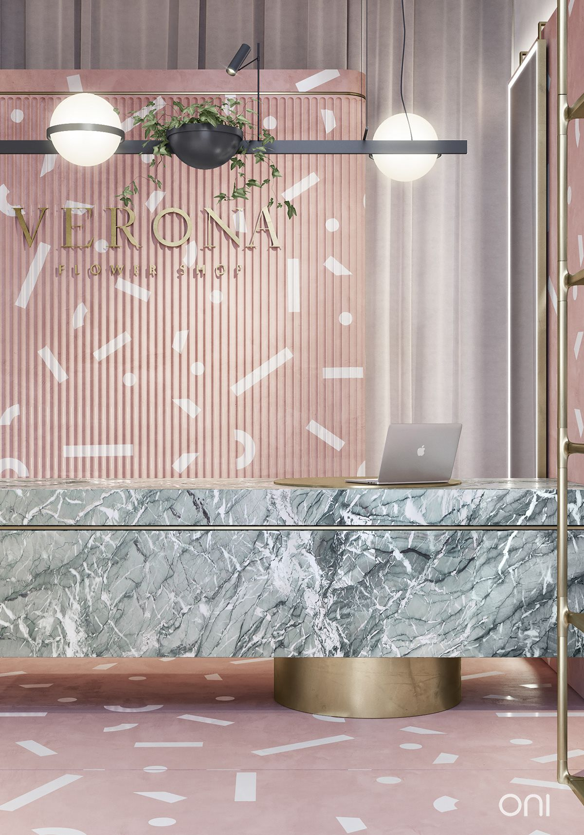 Verona Boutique On Behance Clinic Interior Design Lobby Design Salon Interior Design