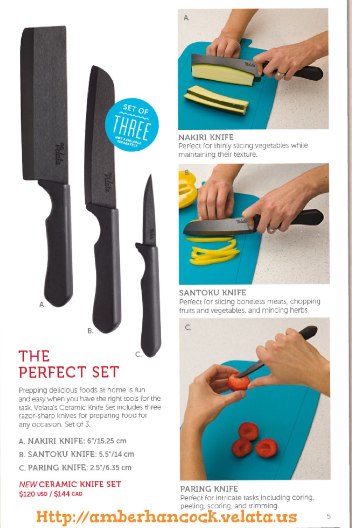 Velata Summer Catalog 2014  Ceramic knives for cooking an awesome meal!  Bringing families together around the kitchen table making meals together.