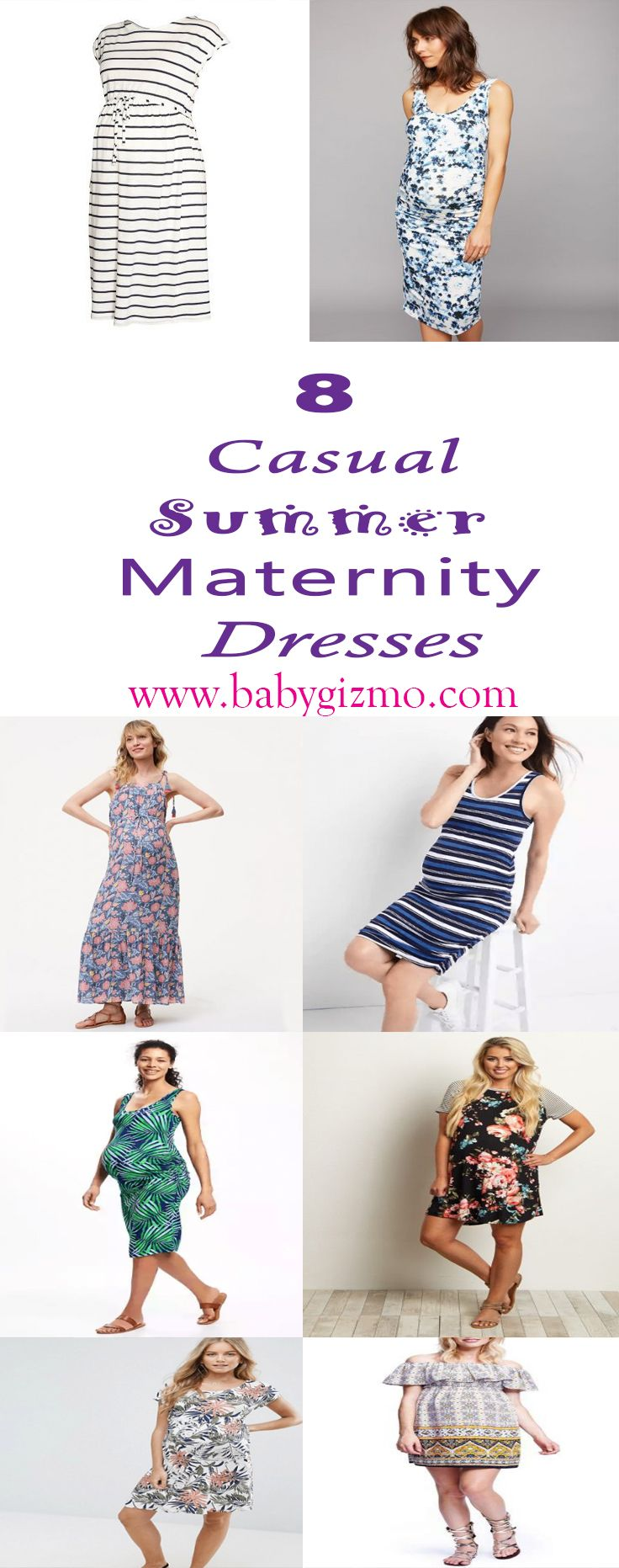 0aaecc94b9d 8 Casual Summer Maternity Dresses- These dresses can all be dressed down  with simple sandals