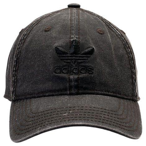 ADIDAS ORIGINALS ORIGINALS PRECURVED WASHED STRAPBACK HAT 304d8eaf61ae