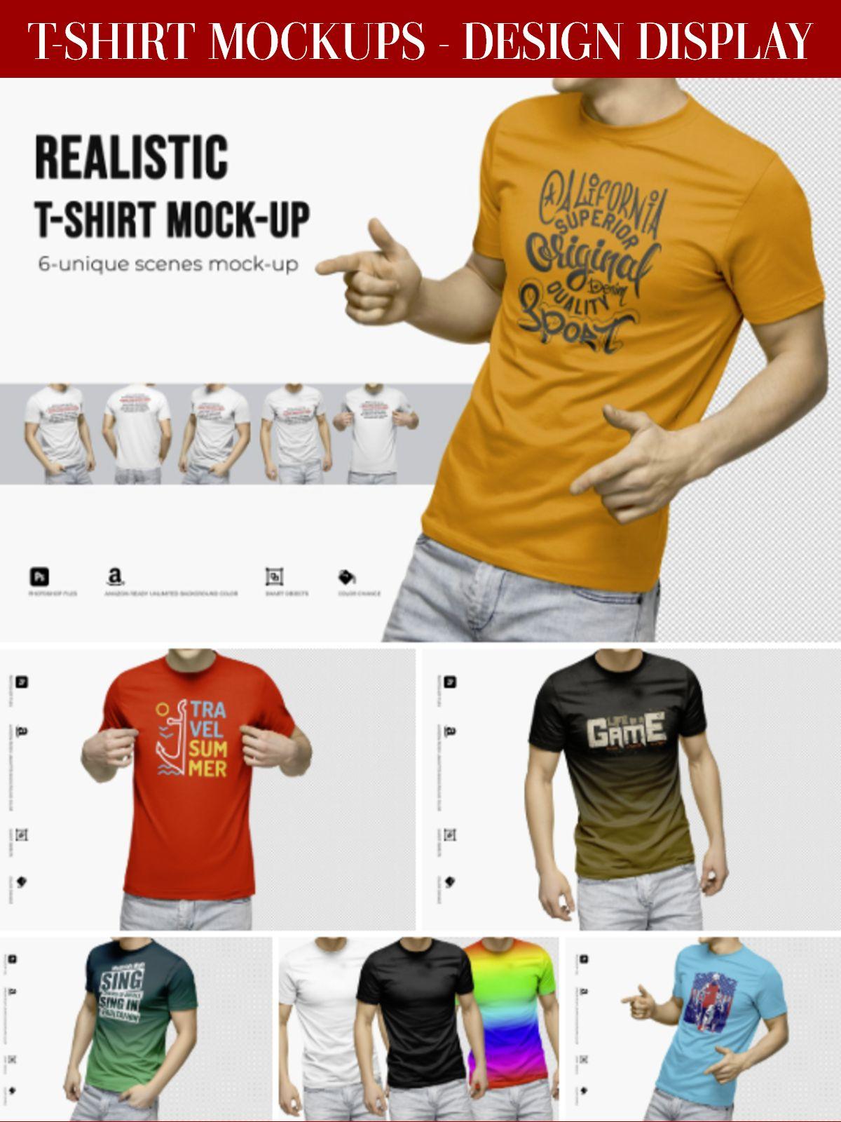 Download Realistic T Shirt Mock Up Shirts Mockup T Shirt