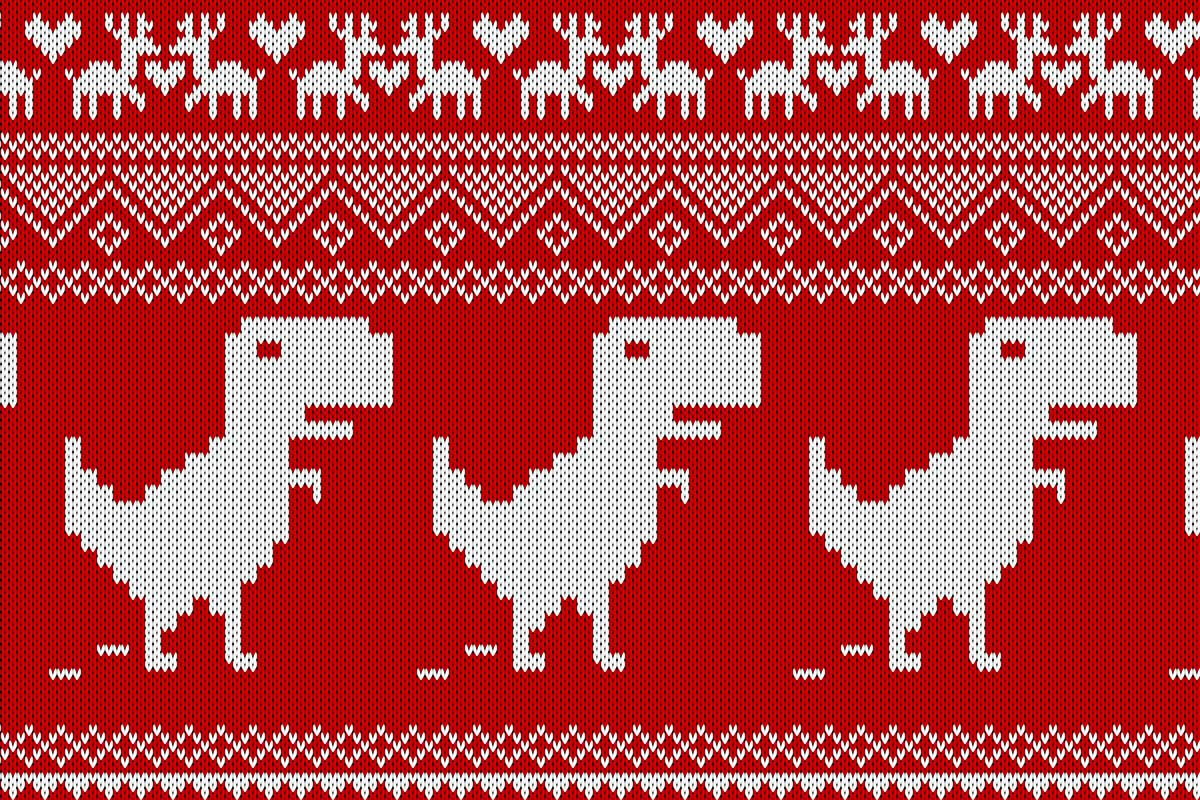 christmas sweater zoom background