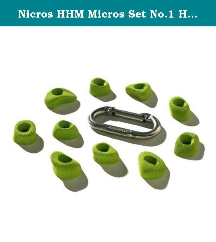 Nicros HHM Micros Set No.1 Handholds - Chartreuse.