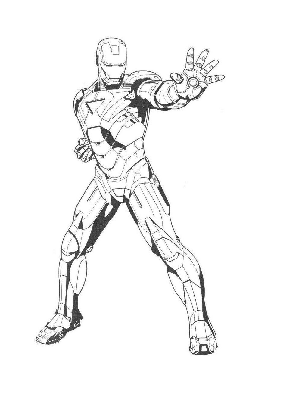 Coloring Page Iron Man Hd Dengan Gambar