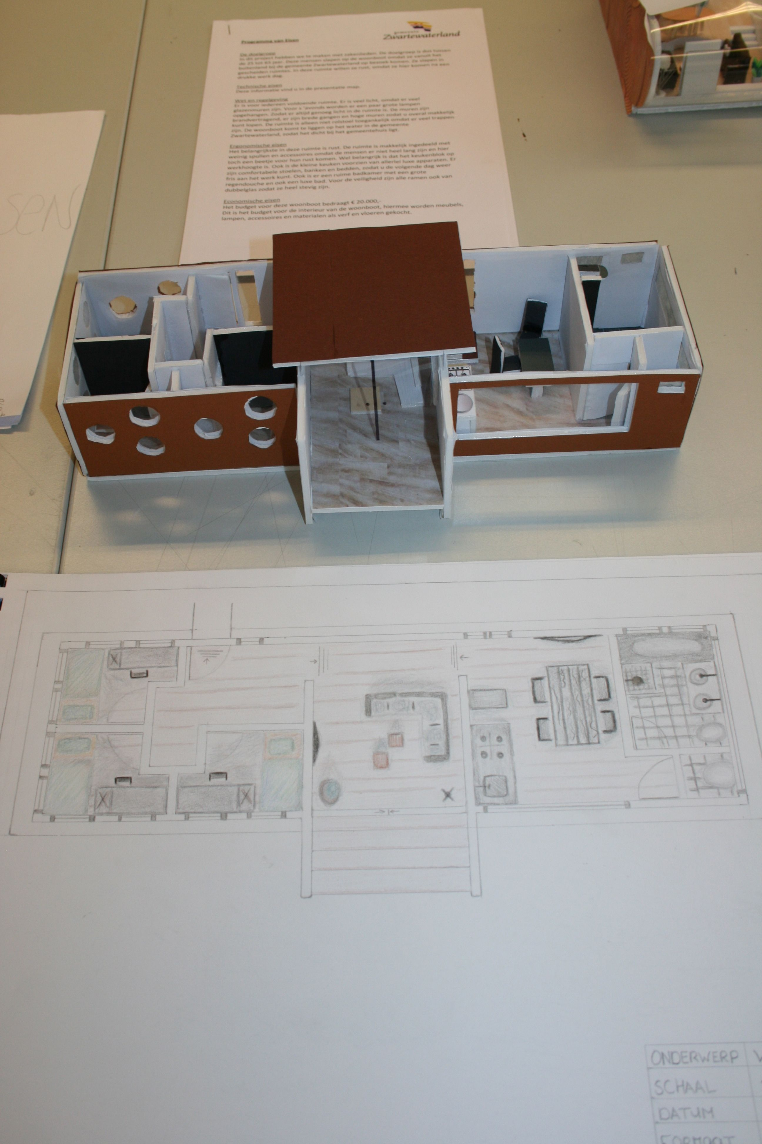 2e jaar woonboot project CIBAP interieur opleiding Zwolle | Cibap ...