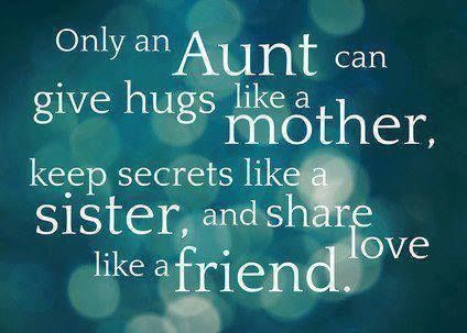 Thank you for being a great aunt to our boys.