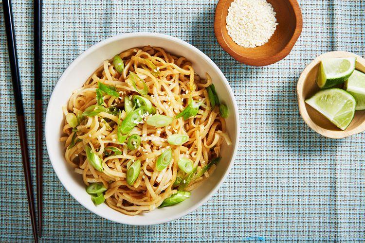 GlutenFree, Vegan Chinese Cold Sesame Noodles Recipe