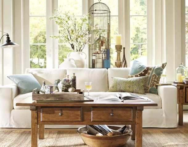 Pottery barn living room curtainsInterior Design Ideas - Living ...