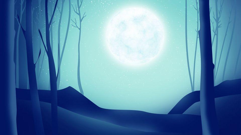 Fondo Nocturno De Dibujos Animados De Arboles Bajo La Luna La Noche Luna Arboles Dibujo Fondos De Dibujos Animados Dibujos Animados De Navidad Dibujos Animados