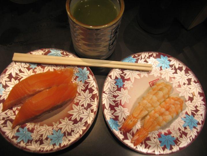 Sushi Go Round Dining Experience in Akihabara, Japan