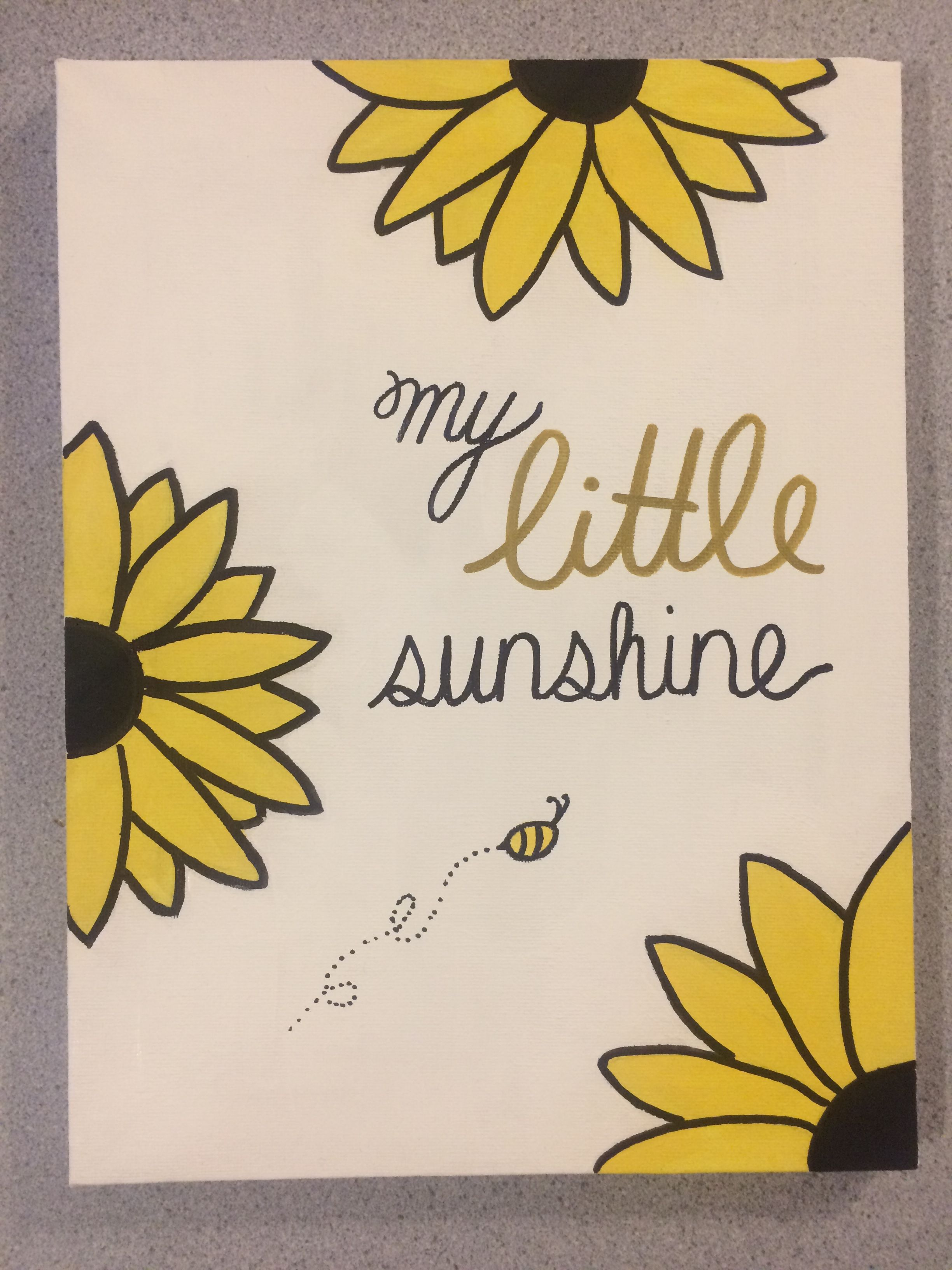 sorority - big little crafts - canvas - sunflower - my little sunshine #biglittlecanvas
