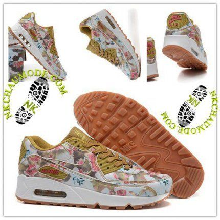 cheap for discount 5126d c09b7 Montante   Nike Chaussure Sport Air Max 90 2016 Femme Mln Milan Rose Arts