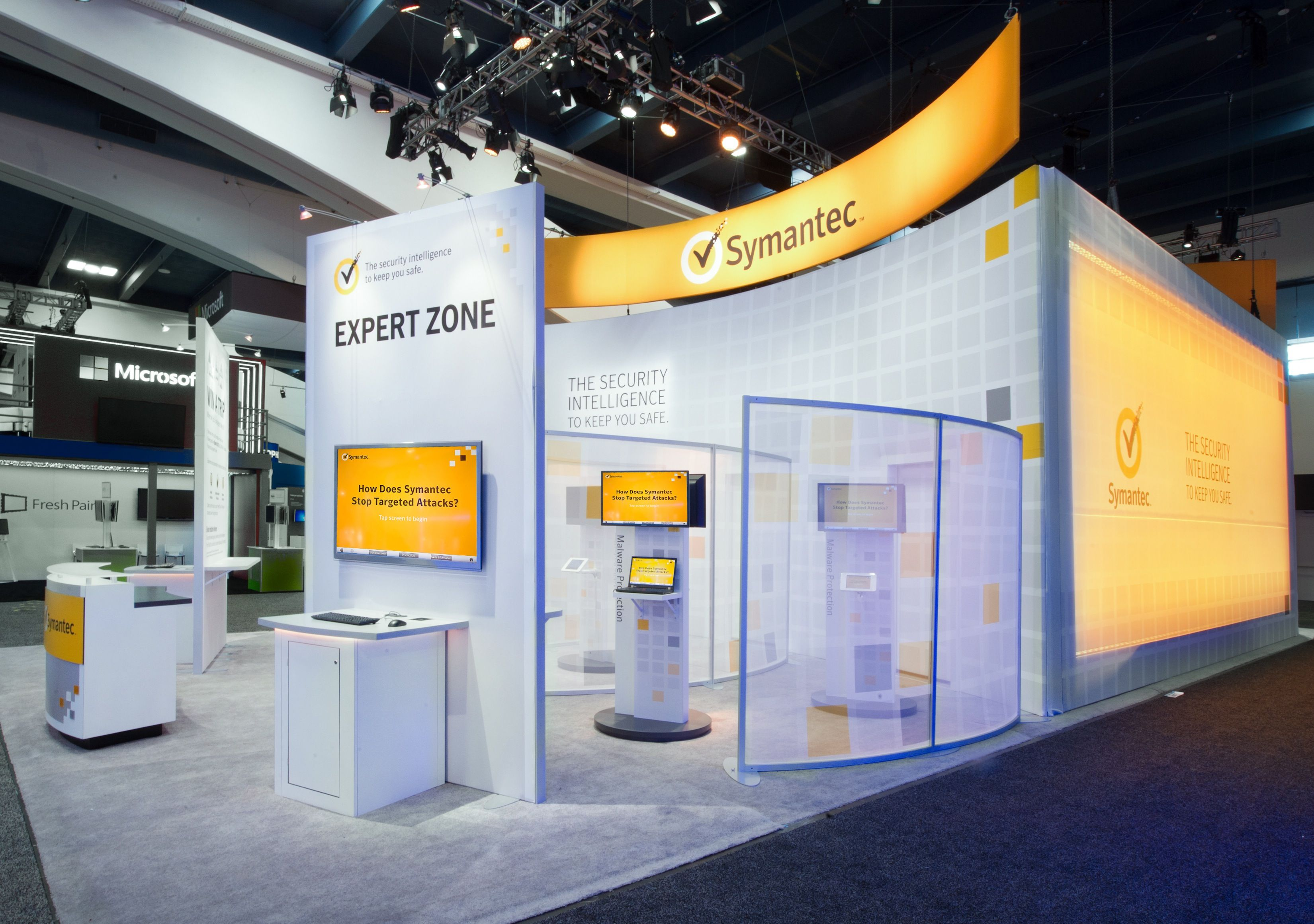 Modular Exhibition Stands Zone : Symantec expert zone. beautifully designed booth event show