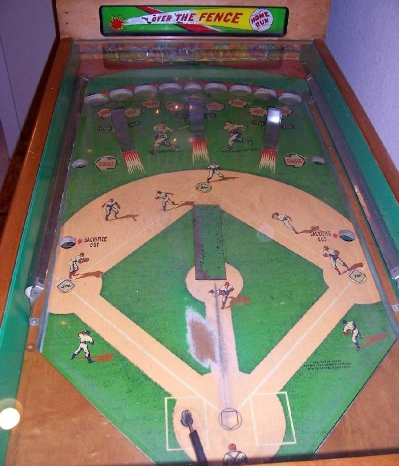 1954 Williams Major League Baseball Pinball Arcade Game Game Room
