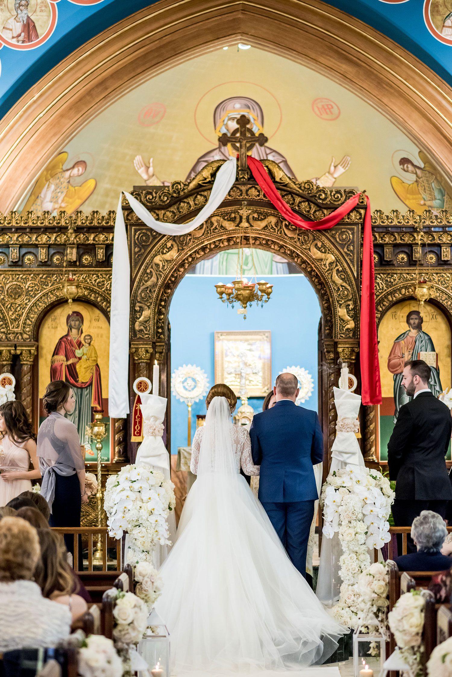 Traditional Greek Orthodox Ceremony Ballroom Reception In Chicago Inside Weddings Orthodox Wedding Greek Wedding Traditions Greek Wedding Dresses
