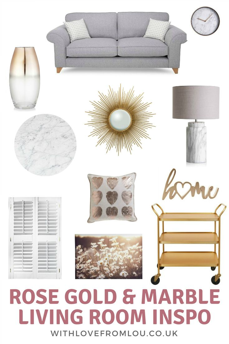 Rose Gold & Marble Living Room Inspiration is part of Elegant Living Room Gold - Every year, when Spring rolls around, I find myself wanting to update my living room with the latest colours, textures, and accessories  And this year I've been well and truly drawn towards all the gorgeous rose gold and marble bits and pieces on the high street  Check out my post to find out more!