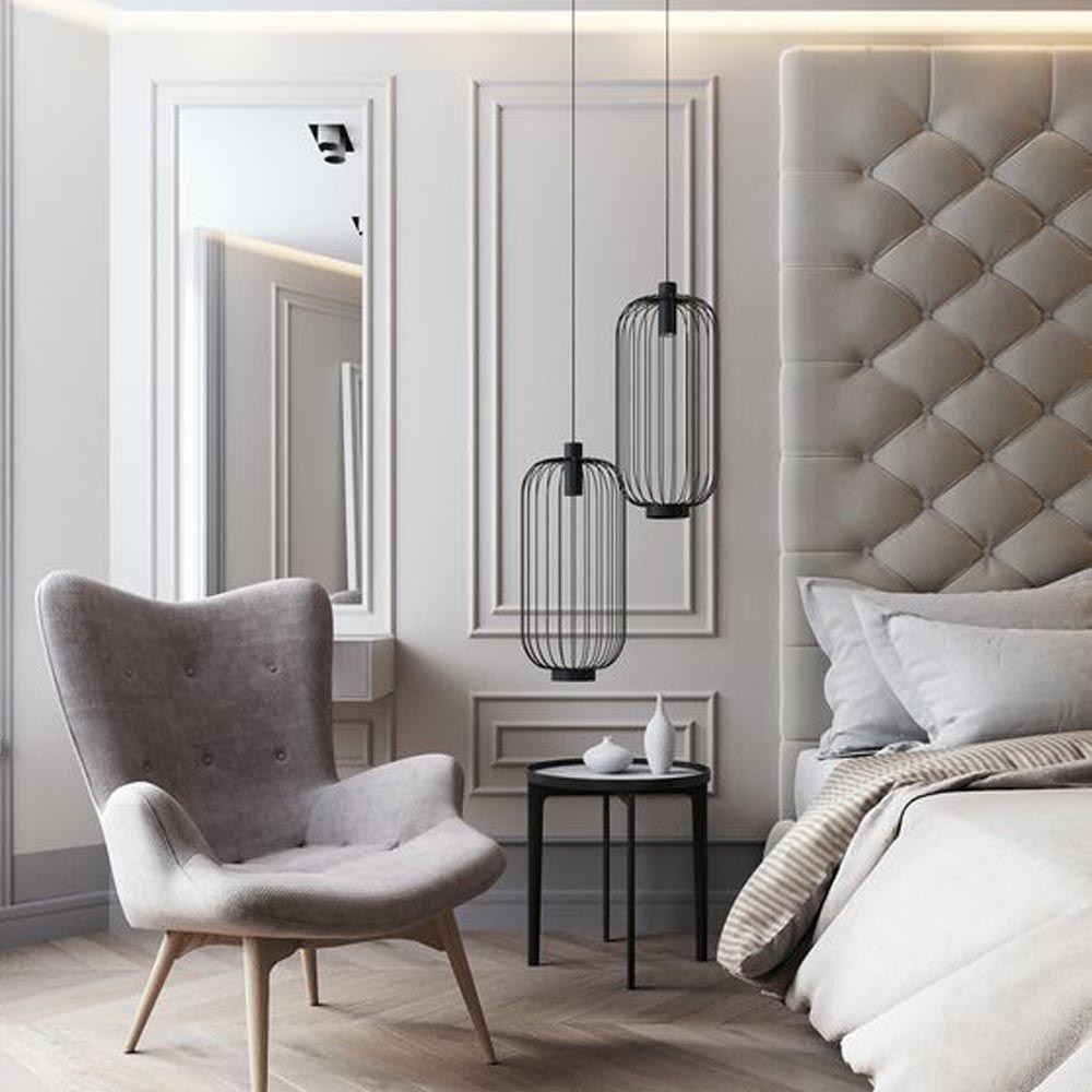 Gitter Pendelleuchte Schlafzimmer Design Luxusschlafzimmer