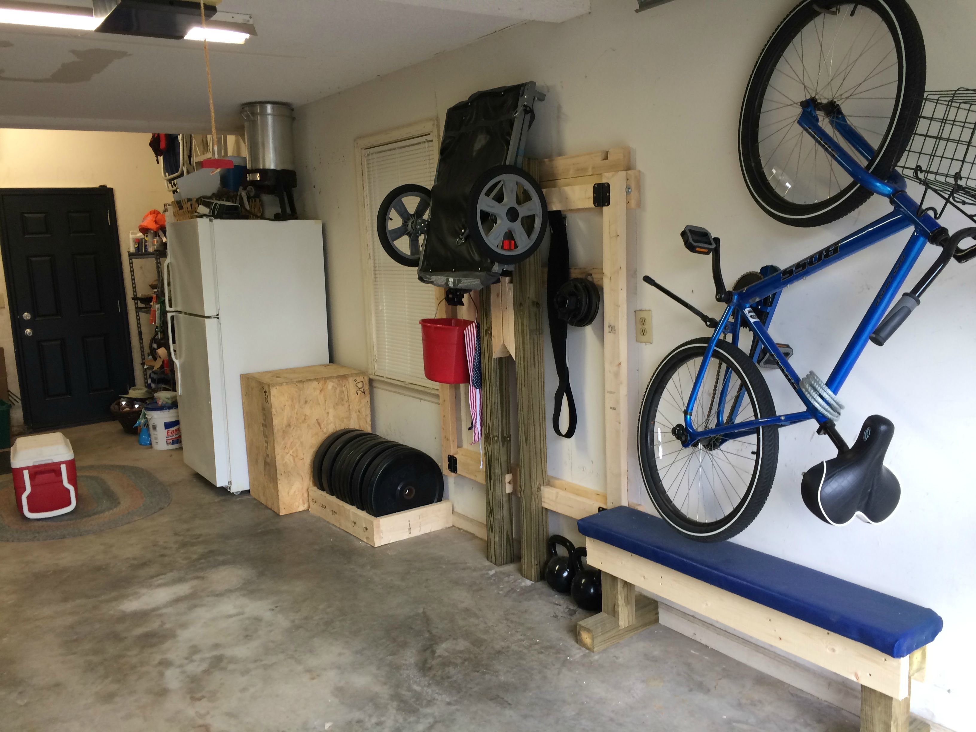 diy folding squat rack