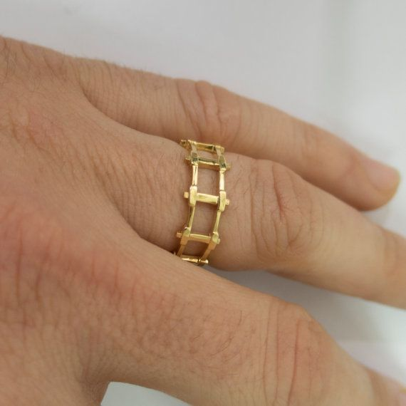 Gold Wedding Band Men's 18K Gold Wedding by DoronMeravWeddings