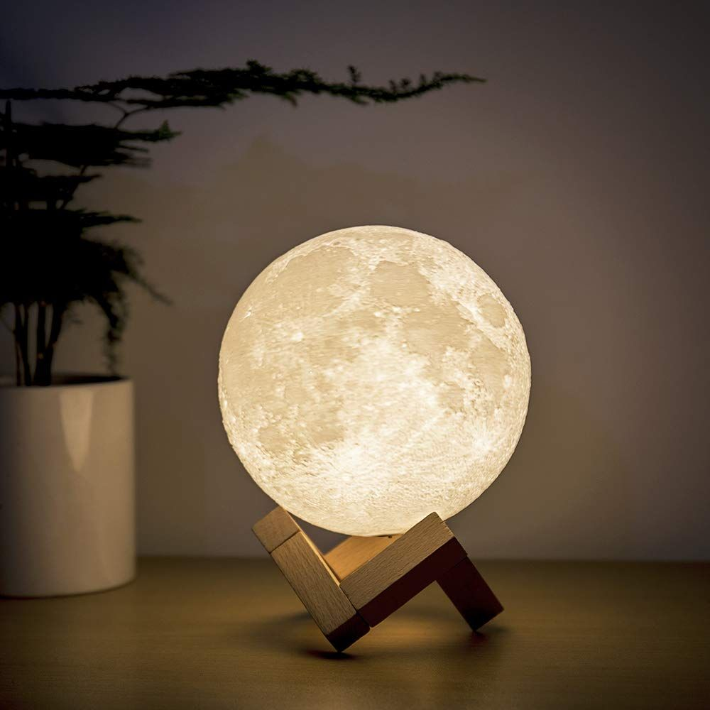 Brightworld Moon Lamp Moon Night Light 3d Printed 4 7in Lunar Lamp For Kids Gift For Women Usb Rechargeable Touch Contral Brig Night Light Moon Light Lamp Lamp
