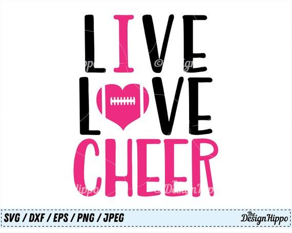 Download Live love cheer svg, Cheer svg, Cheer mom svg, Cheerleader ...