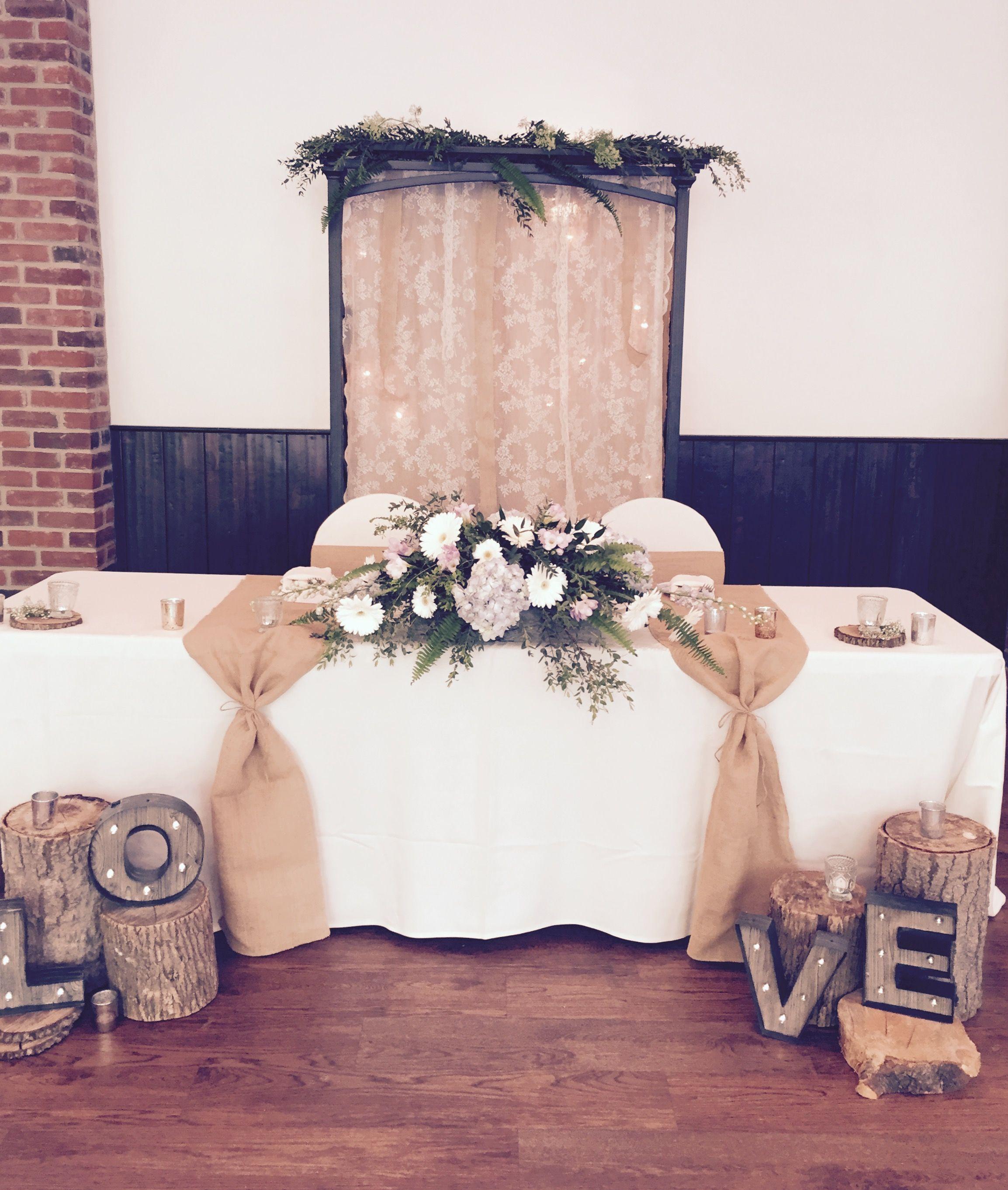 Decorations For Tables Wedding Ideas: Gorgeous Rustic Head Table Wedding At Fantasy Farm