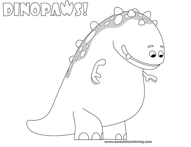 awesome dinopaws claude coloring page download or print and make a fun activity for kids who Charaters CBeebies Coloring Pages  Cbeebies Coloring Pages