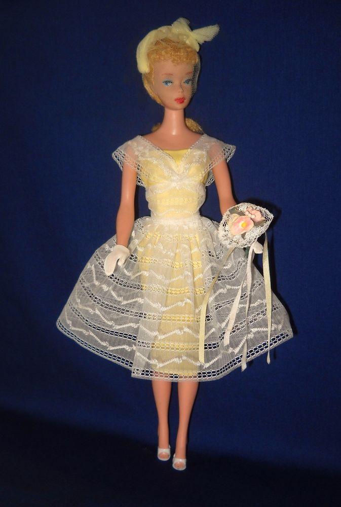 Vintage Barbie Orange Blossom Complete Outfit 987 Excellent To Near Mint Ebay Vintage Barbie Clothes Barbie Bridal Barbie