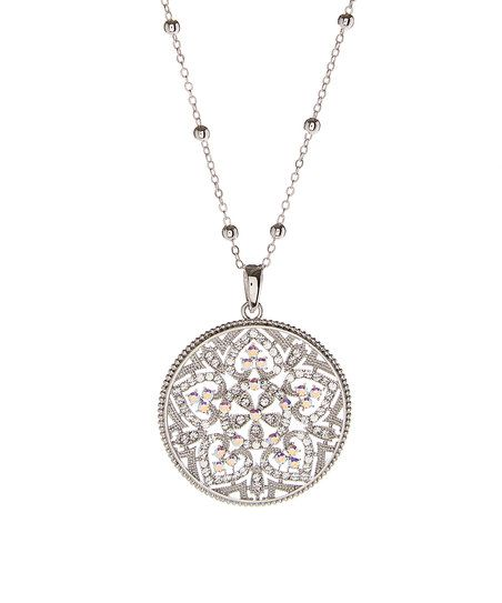 Forever Crystals Silvertone Facets of Love Pendant Necklace With Swarovski® Crystals | zulily