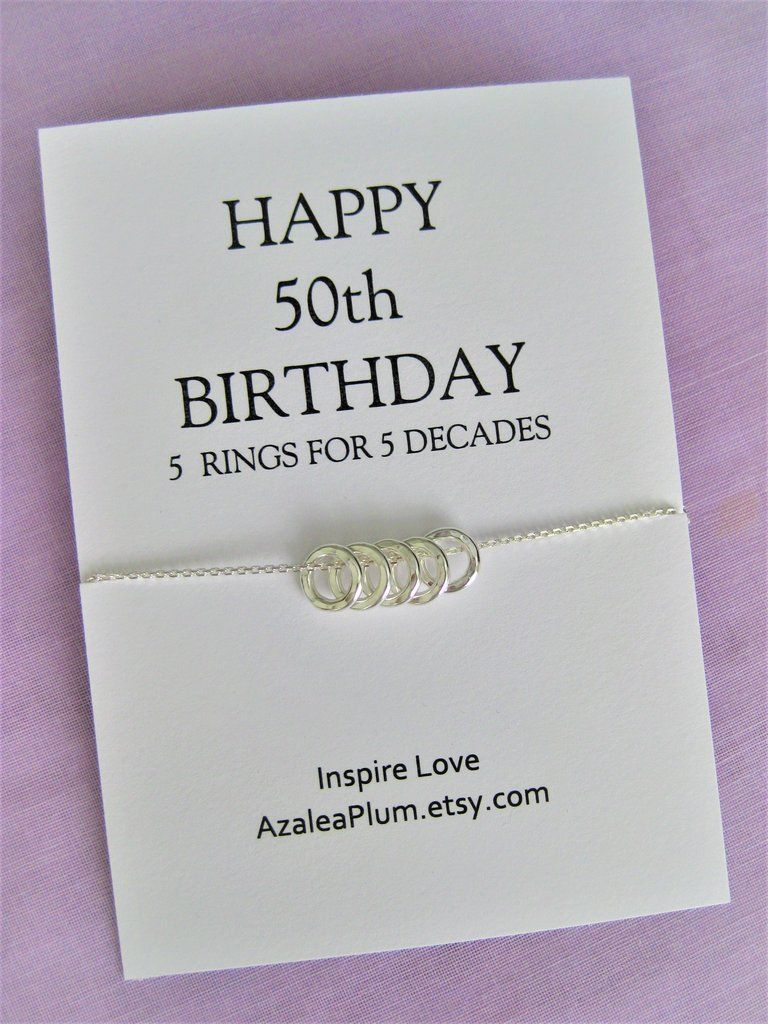 50th birthday gift necklace birthday gift jewelry gift
