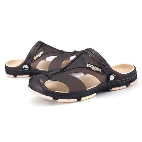 acd605ac6c44  EBay  Fashion Hollow Men Sandals Summer Breathable Soft Non-Slip Casual  Sandals Bathroom Slippers Beach Sandals Clogs Shoes Men H24735