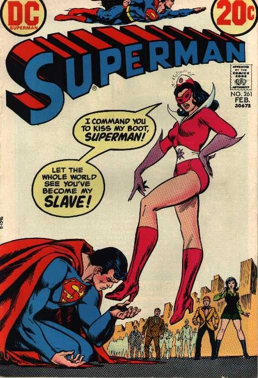 Superman Always Seemed Like The Type Who Wanted To Be Dominated Superman Comic Vintage Comic Books Comic Book Cover
