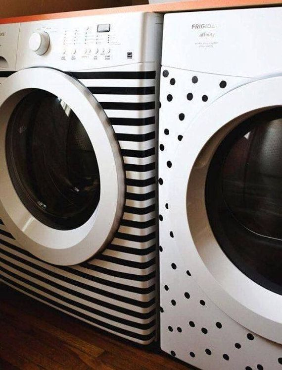Decorate Your Washer Dryer With This Set Of Vinyl Decals