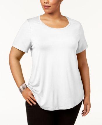 2d73b00c1bcf6e Jm Collection Plus Size Short-Sleeve Top, Created for Macy's - Black ...