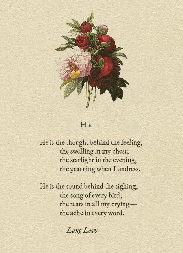 Photo of Love quote : 'His' love poem by Lang Leav – beautiful love quote…