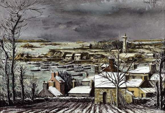 Panorama de la baie en hiver à Loguivy