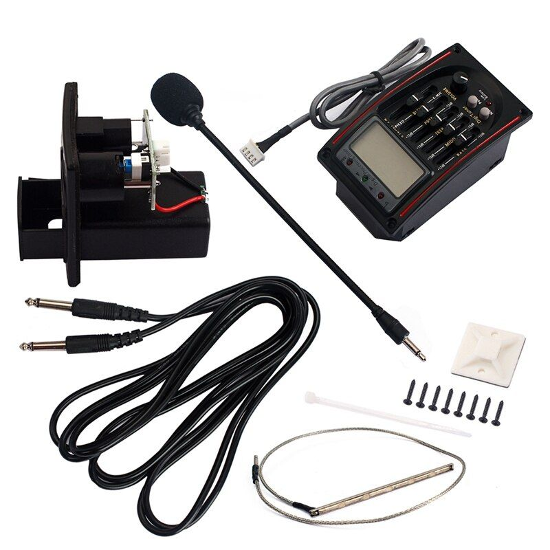 5 Band Eq Equalizer Preamp Pickup Lcd Tuner With Microphone Set Lc 51 For Acoustic Classical Guitar Replacement Parts Atte Acoustic Guitar Tuner Acoustic