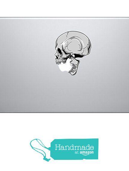 Human skull biting apple logo vinyl decal sticker skin macbook pro air sticker 13 15 17 laptop sticker zombie sticker self adhesive vinyl from skyhawk