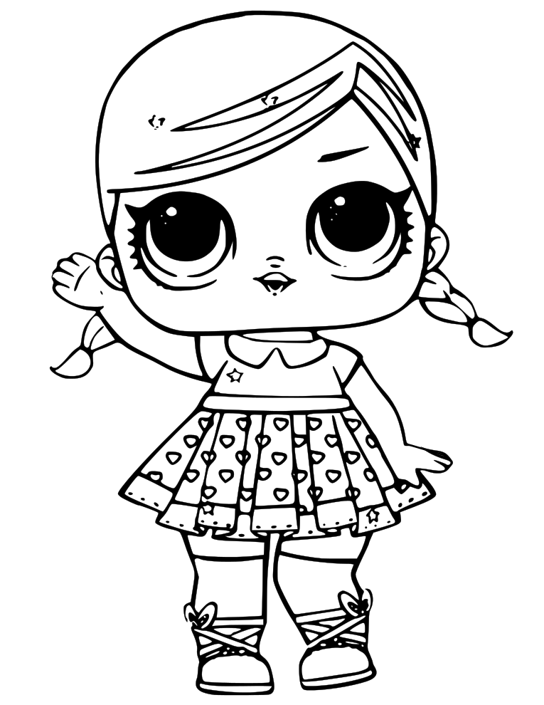 LOL Doll Coloring Pages Toys