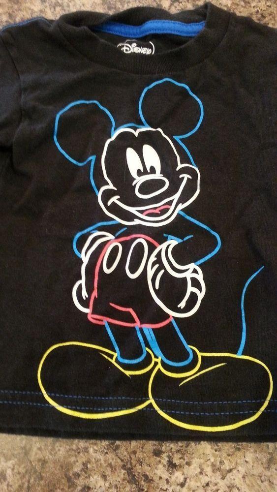 Toddler Boy's Disney Mickey Mouse TShirt Black 2T