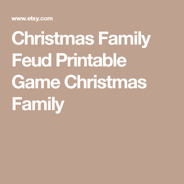 Christmas Family Feud Printable Game Christmas Family   Weekend