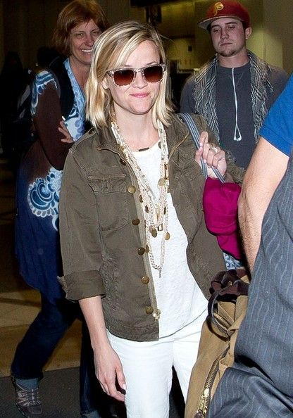 Reese Witherspoon - Reese Witherspoon and Jim Toth at LAX