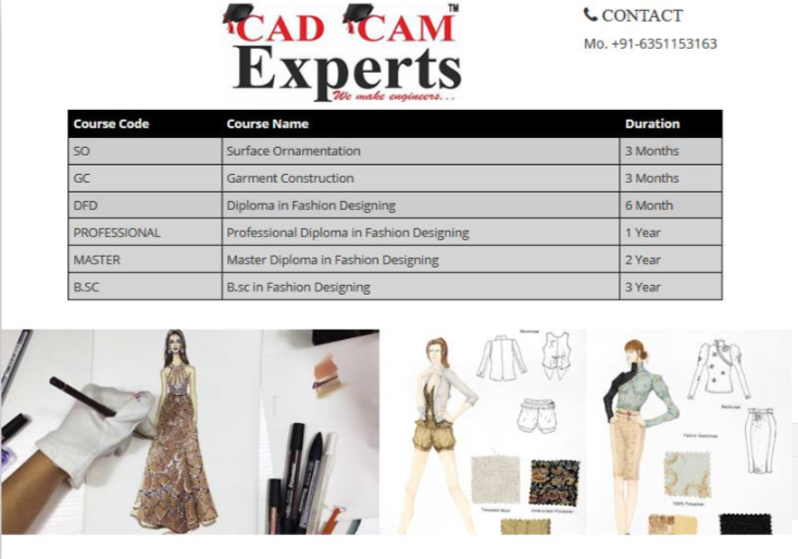 Cadcam Experts Fashion Designing Courses Website Www Westerncomputers In Western Comput Diploma In Fashion Designing Fashion Designing Course Fashion Design